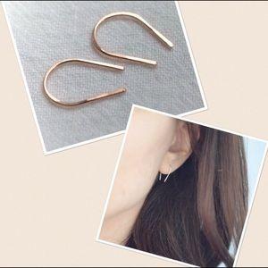 ✨Horseshoe Threader Open Hoop Earrings✨